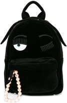 Chiara Ferragni Kids Flirting embroidered backpack