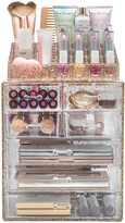 Sorbus Glitter Makeup & Jewelry Storage Case Display Set