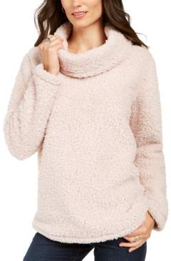 Style&Co. Style & Co Sherpa Cowl-Neck Sweater, Created For Macy's