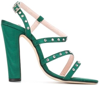 Leandra Medine Studded High-Heeled Sandals