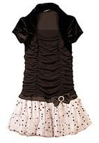 Amy Byer Girls' 4-6X Black/White Shrug Dress