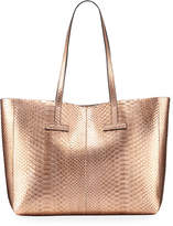 Tom Ford Small Metallic Python T Tote Bag