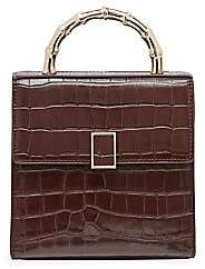 Loeffler Randall Women's Mini Tani Croc-Embossed Leather Box Bag