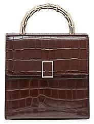Loeffler Randall Women's Mini Tani Croc-Embossed Leather Crossbody Bag