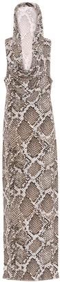 Norma Kamali Neeta snake-print jersey dress