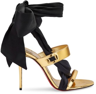 Christian Louboutin Foulard Cheville Satin Ankle-Tie Sandals
