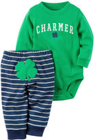 Carter's 2-Piece St. Patrick's Day Bodysuit & Pant Set