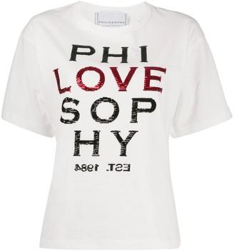 Philosophy di Lorenzo Serafini Love embellished T-shirt