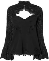 Jonathan Simkhai Lace Sleeve Top: Black