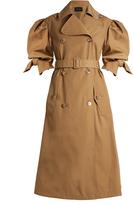Simone Rocha Short-sleeved gabardine trench coat