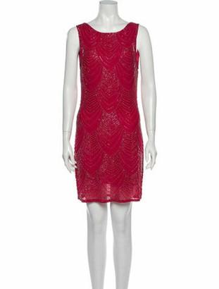 Alice + Olivia Scoop Neck Mini Dress Red