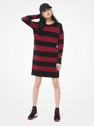 MICHAEL Michael Kors Striped Knit Sweater Dress