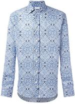 Etro abstract print shirt - men - Linen/Flax - 40