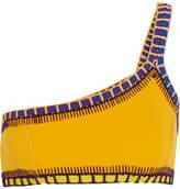 Kiini Ro Crochet-trimmed Bikini Top - Yellow