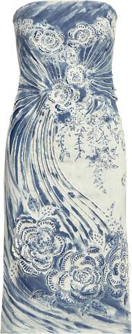 Thumbnail for your product : Ralph Lauren Katlynn Embellished Linen Cocktail Dress