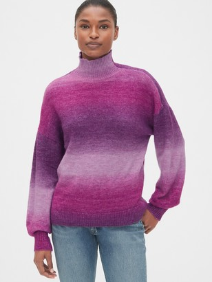 Gap Ombre Blouson Sleeve Turtleneck Sweater