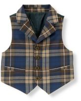 Janie and Jack Plaid Suit Vest