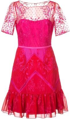 Marchesa short lace dress