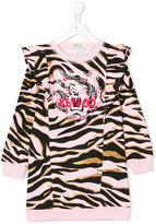 Kenzo metallic animal print sweatdress - kids - Cotton - 3 yrs