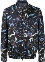 Fendi reversible floral print jacket - men - Silk/Cupro - 46