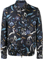 Fendi reversible floral print jacket - men - Silk/Cupro - 50
