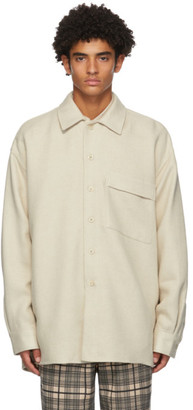 Schnaydermans Beige Wool Oversized Over Shirt
