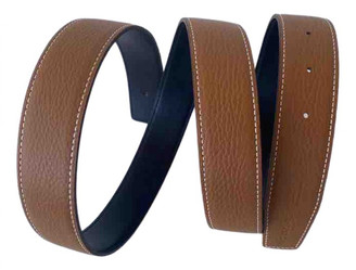 Hermes Cuir seul / Leather Strap Camel Leather Belts