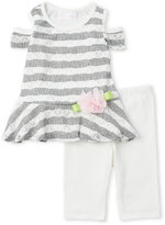 Bonnie Baby Infant Girls) Two-Piece Knit Cold Shoulder Tunic & Leggings Set