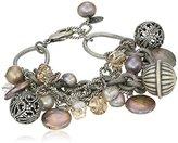 "Liz Palacios Perlas"" Swarovski Crystal and Pearl Multi-Chain Bracelet, 8"""