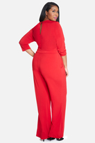 Fashion to Figure Donna Wide Leg Wrap Jumpsuit