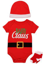 Baby Starters Red 'Baby Claus' Bodysuit Set - Infant