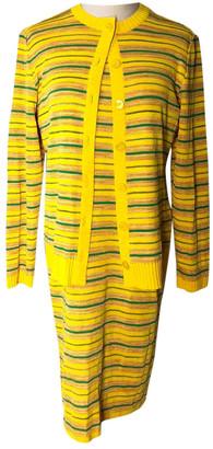 Saint Laurent Yellow Viscose Knitwear