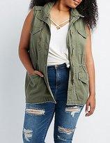 Charlotte Russe Plus Size Drawstring Utility Vest