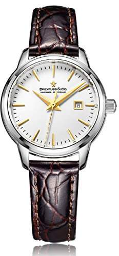 Dreyfuss & Co Dreyfuss Womens Analogue Classic Quartz Watch with Leather Strap DLS00125/02