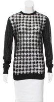 Richard Nicoll Sheer-Paneled Long Sleeve Top