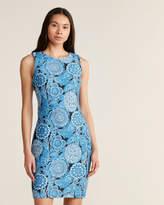 Tommy Hilfiger Sky Captain & Electric Blue Eastern Floral Sheath Dress