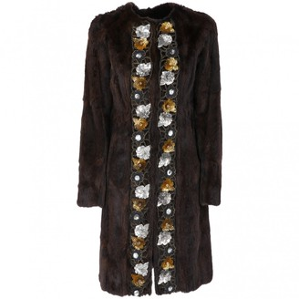 Miu Miu Brown Fur Coat for Women