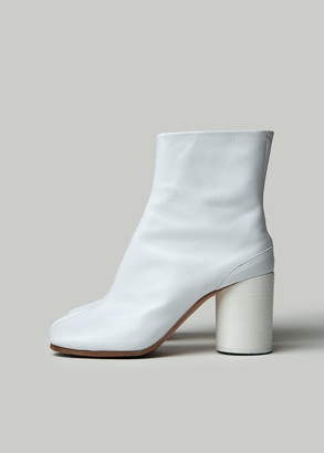 Maison Margiela Women's Tabi Boot in White Size 35 Leather