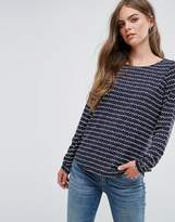 Pieces Damara Stripe Boxy Top