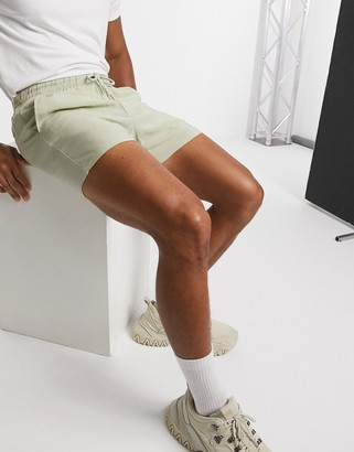 ASOS DESIGN lightweight shorts in slim fit in stone