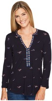 Lucky Brand Floral Printed Top Women's Long Sleeve Pullover
