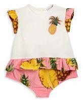 Dolce & Gabbana Baby's Pineapple Peplum Bodysuit
