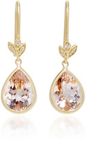 Jamie Wolf 18K Gold Morganite and Diamond Earrings