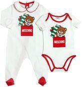 Moschino Holiday Cotton Jersey Romper & Bodysuit