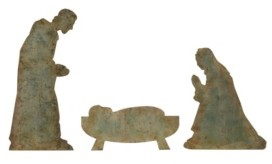 "Creative Co-op Inc 60.5"" Metal Holy Family with Heavily Set of 3 Pieces"