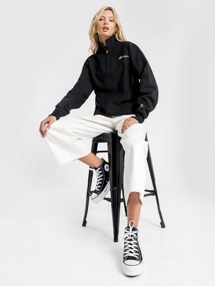Champion Reverse Weave Quarter Zip Sweater in Black