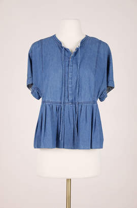 Rebecca Taylor ReCollect Short Sleeve Chambray Top