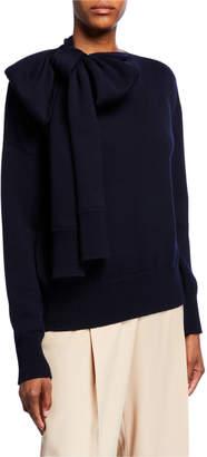 Nina Ricci Wool Bow-Neck Sweater