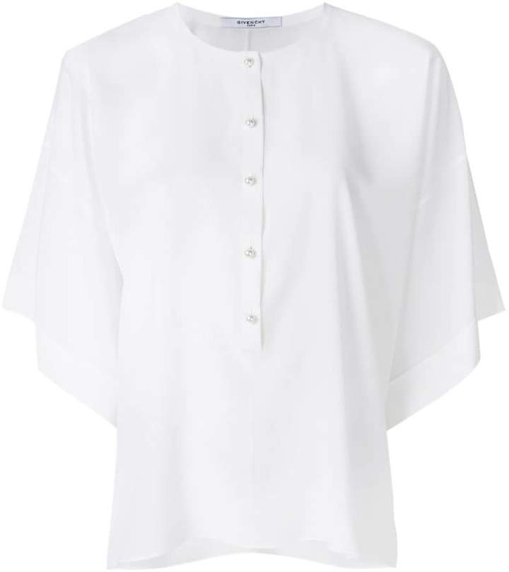 Givenchy relaxed fit buttoned blouse