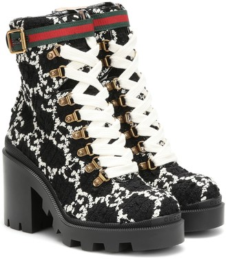 Gucci GG tweed ankle boots
